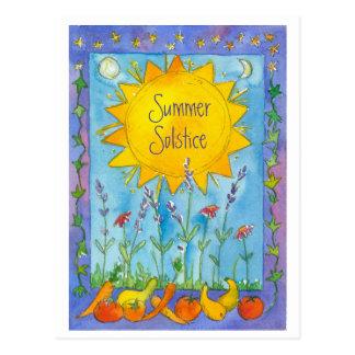 Le soleil porte des fruits solstice d'été de carte postale