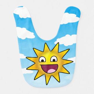 Le soleil ridiculement heureux bavoirs de bébé