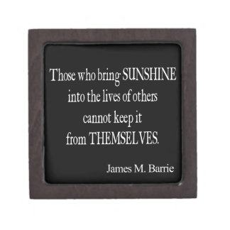 Le soleil vintage de James Barrie dans les vies Boîte À Bijoux De Première Qualité