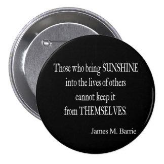Le soleil vintage de James Barrie dans les vies ci Badge