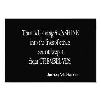 Le soleil vintage de James Barrie Sun dans les Carton D'invitation 8,89 Cm X 12,70 Cm