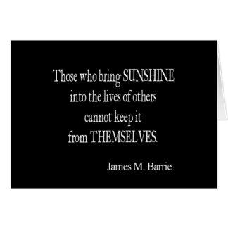 Le soleil vintage de James Barrie Sun dans les vie Carte De Vœux