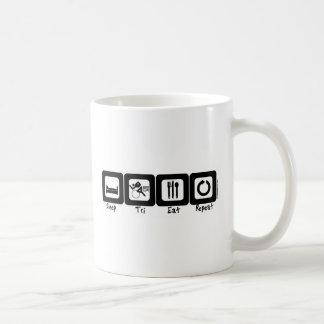 Le sommeil tri mangent la répétition mug