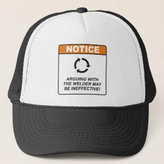 Le soudeur/discutent casquette