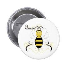 Le sourire gaffent le bouton de reine des abeilles pin's