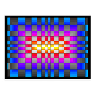 Le spectre d'arc-en-ciel de kaléidoscope colore carte postale