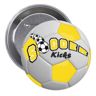 Le sport de ballon de football donne un coup de pin's