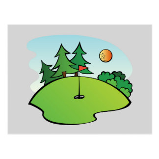 Le sport du golf cartes postales