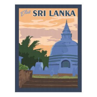 Le Sri Lanka - carte postale vintage de voyage