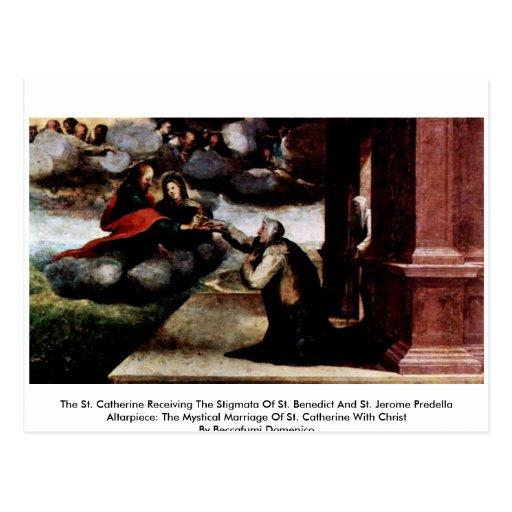 Le St Catherine recevant les stigmates Cartes Postales