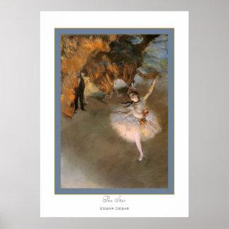 Le Star~ Edgar Degas Affiche