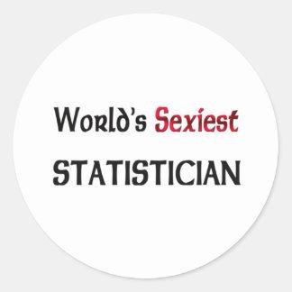 Le statisticien le plus sexy du monde autocollant
