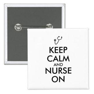 Le stéthoscope de cadeau d'infirmière gardent le badge carré 5 cm