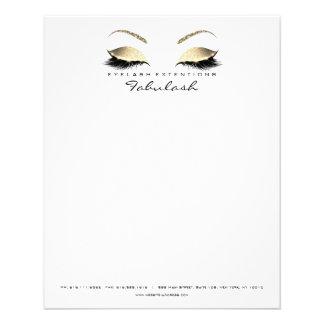 Le studio de beauté fouette des sourcils de prospectus 11,4 cm x 14,2 cm