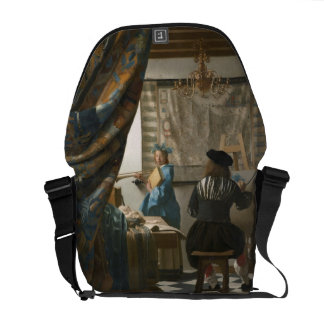 Le studio de l'artiste, c.1665-66 (huile sur la to sacoches