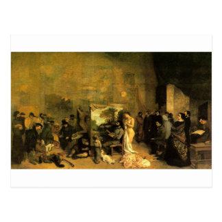 Le studio de l'artiste par Gustave Courbet Carte Postale