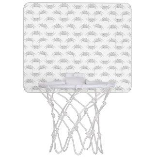 Le style d'art de bruit marche en crabe le motif mini-panier de basket