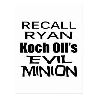 Le subordonné mauvais de l'huile de Paul Ryan Koch Carte Postale