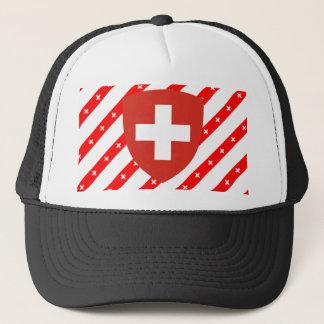Le Suisse barre le drapeau Casquette