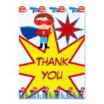 Le super héros badine des cartes de Merci de fête Cartons D'invitation