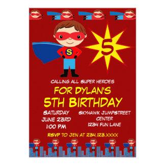 Le super héros badine des invitations de fête d an