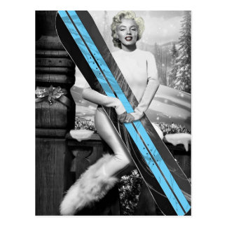 Le surf des neiges de Marilyn Carte Postale