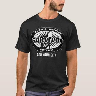 Le survivant/ajoutent votre ville t-shirt