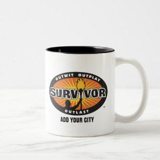 Le survivant/ajoutent votre ville tasse 2 couleurs