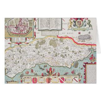 Le Sussex, gravé par Jodocus Hondius de John Cartes