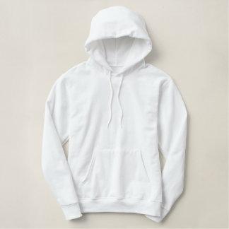 Le sweat - shirt à capuche blanc de pull - ajoutez sweatshirt avec capuche
