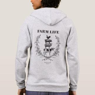 Le sweat - shirt à capuche de couches de FERME des