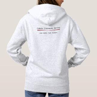 Le sweat - shirt à capuche des femmes catholiques