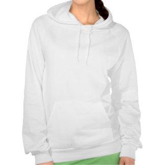 Le sweat - shirt à capuche des femmes s'asseyantes pull avec capuche