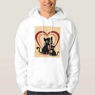 Le sweat - shirt à capuche des hommes de chats