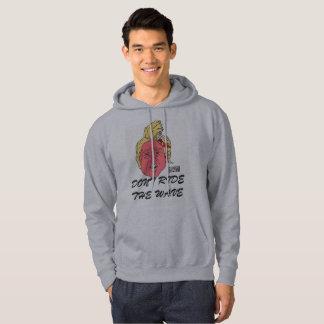 Le sweat - shirt à capuche gris des hommes de