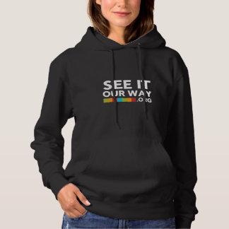 Le sweat - shirt à capuche noir des femmes de FBC