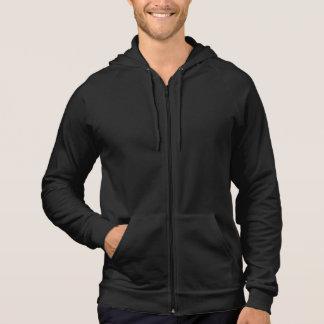 Le sweat - shirt à capuche noir des hommes