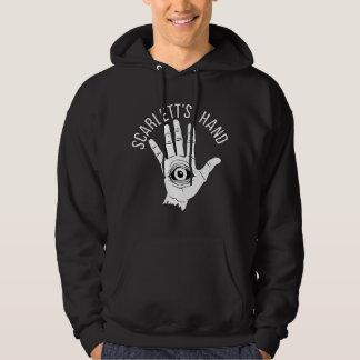 Le sweat - shirt à capuche noir des hommes de logo