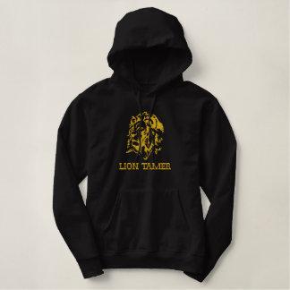 Le sweat - shirt à capuche principal du lion brodé