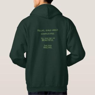 Le sweat - shirt à capuche vert des hommes - les