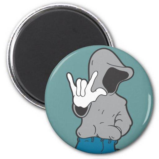 Le sweat - shirt à capuche vous aime magnets pour réfrigérateur