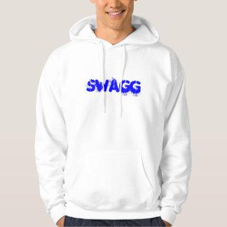 Le sweatshirt à capuchon bleu de swagg en
