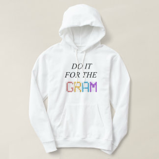 Le sweatshirt à capuchon de base blanc - faites-le