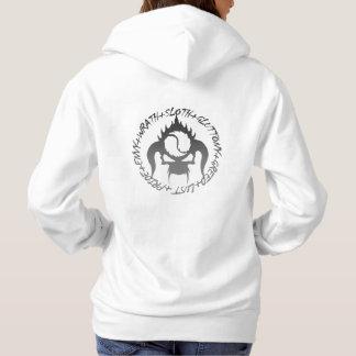 Le sweatshirt à capuchon de base de sept femmes de
