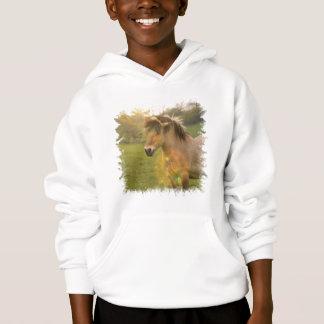 Le sweatshirt à capuchon de l'enfant de poney de