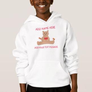 Le sweatshirt à capuchon de l'enfant de Valentine