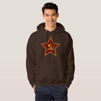 Le sweatshirt à capuchon rouge des hommes de