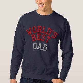 Le sweatshirt brodé le meilleur par papa du monde
