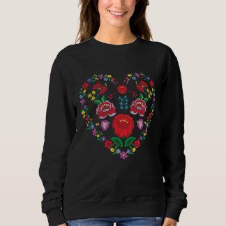 Le sweatshirt de base des femmes de broderie de