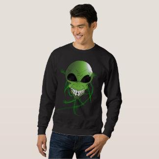 Le sweatshirt de base des hommes étrangers verts
